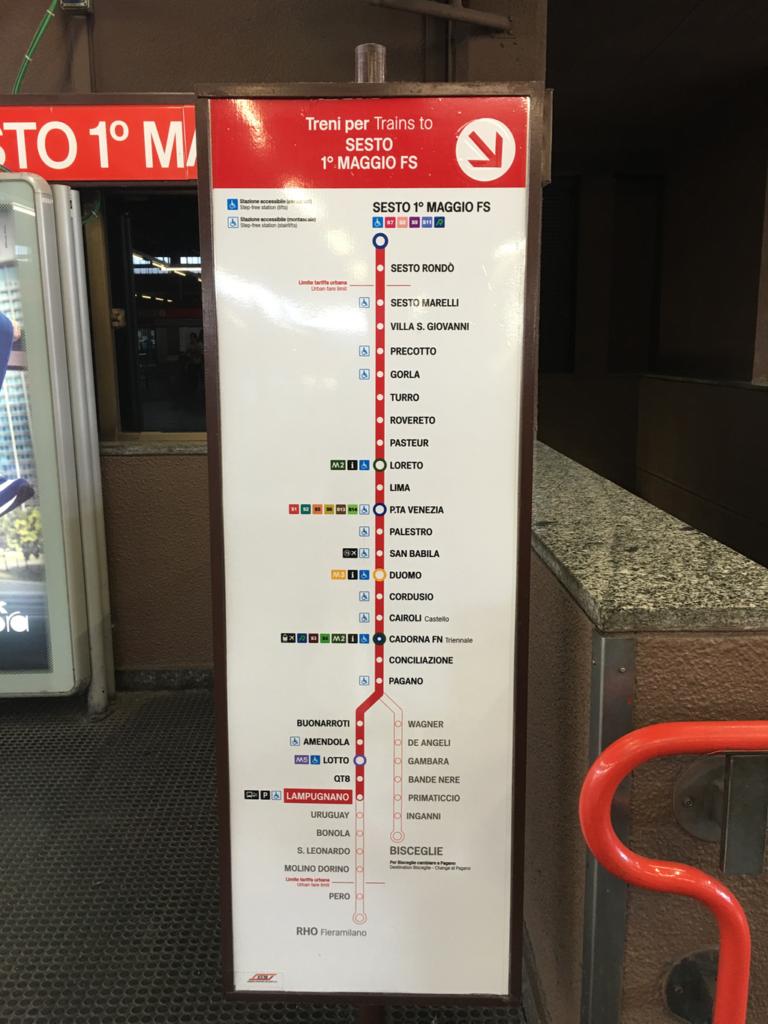 Lampugnano bus station - metro M1 line