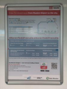 Munich Airport DB Ticket Information