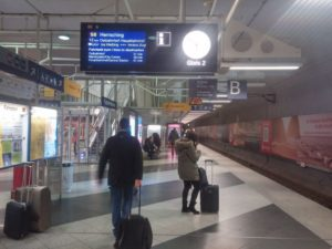 Munich Airport Train MVV Underground station - Platform B