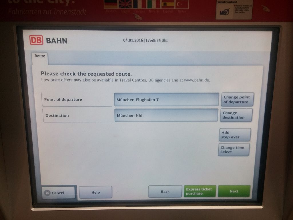 Munich Airport Train ticket buying guide