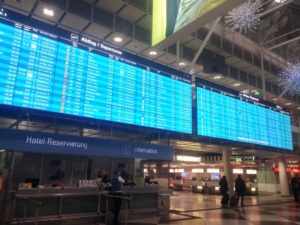 Munich Airport Terminal 1 Arrivals & Departures Infopanel