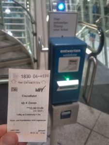 Munich Airport MVV Train Ticket