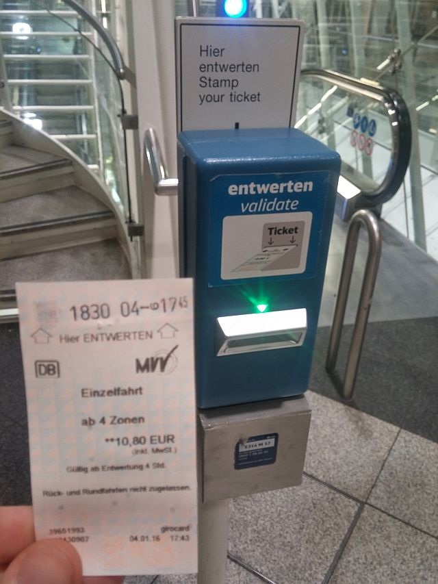 Munich airport train ticket