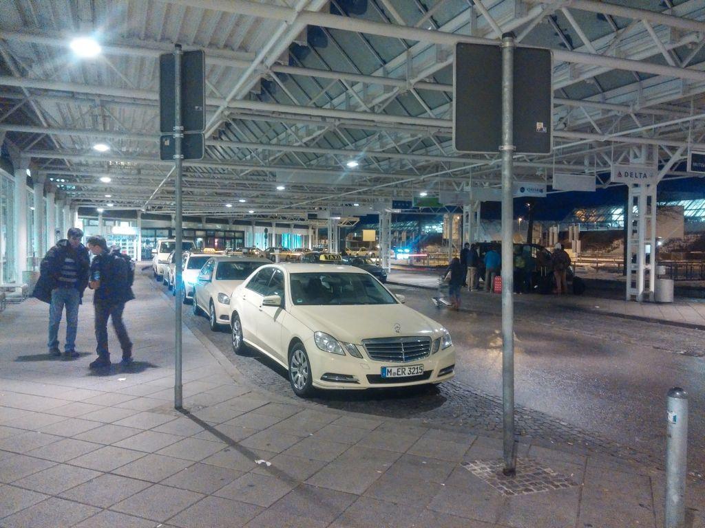 Munich Airport Terminal TAXI Stop