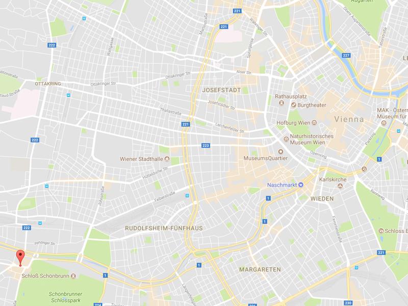 Austria Vienna Hotel Ekazent Schonebron map